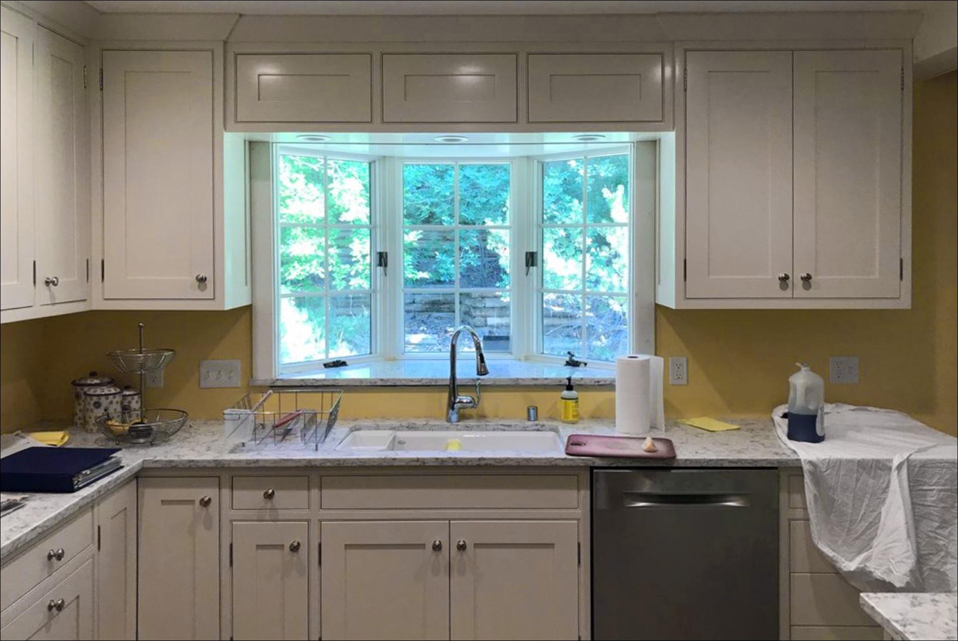Kitchen Remodel White Cabinets White Marble Countertops Outset Windows New Kitchen Appliances 4 Johnson Construction
