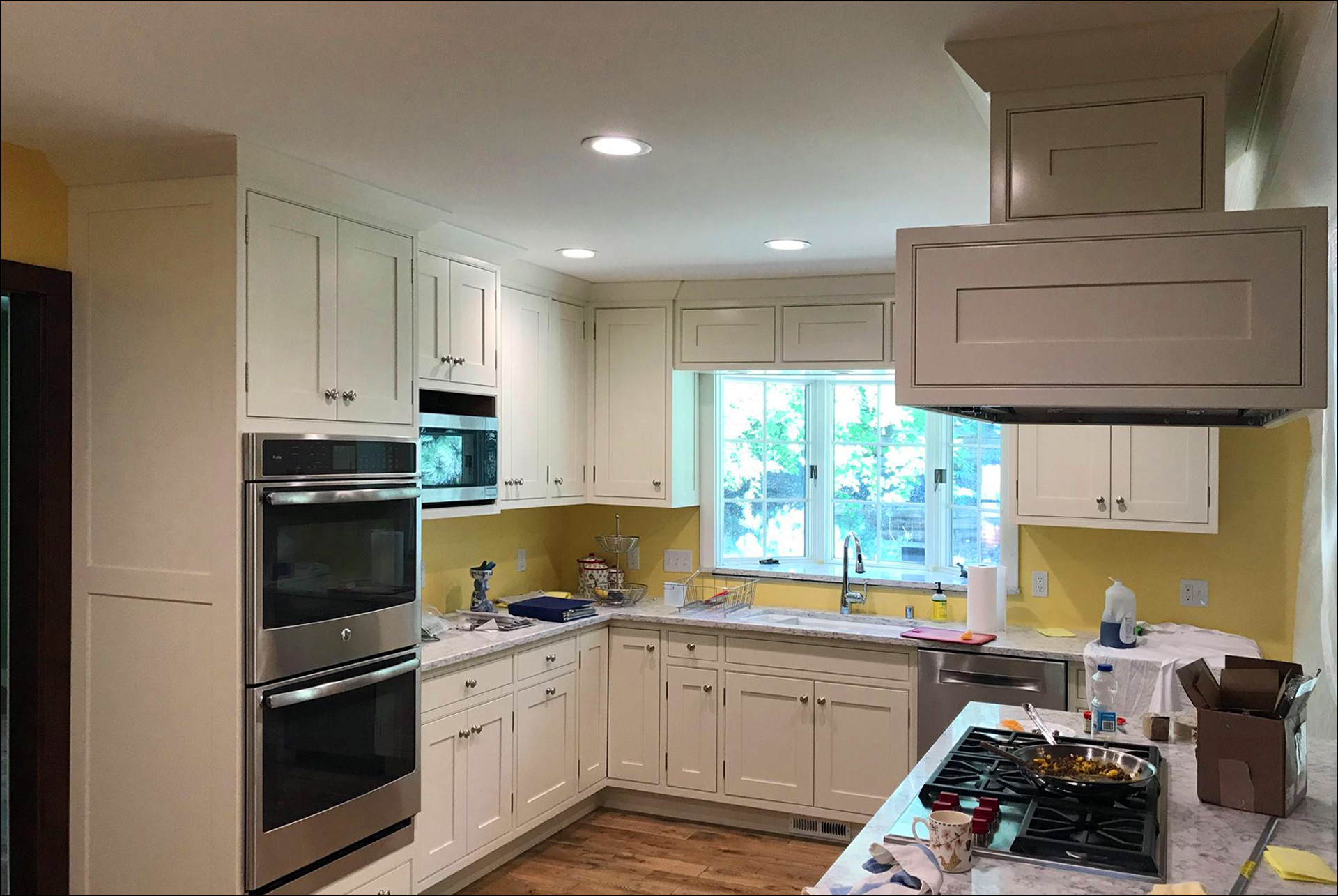 Kitchen Remodel White Cabinets White Marble Countertops outset Windows New Kitchen Appliances 5 Johnson Construction