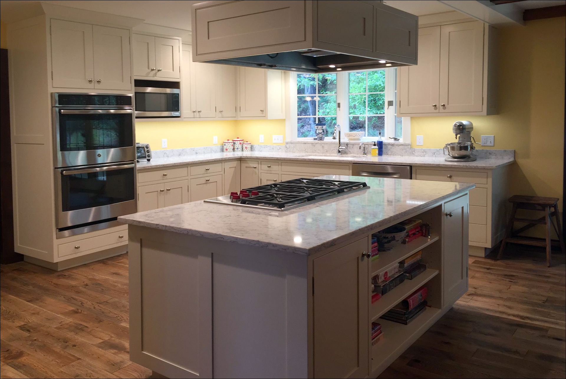 Kitchen Remodel White Cabinets White Marble Countertops outset Windows New Kitchen Appliances 6 Johnson Construction