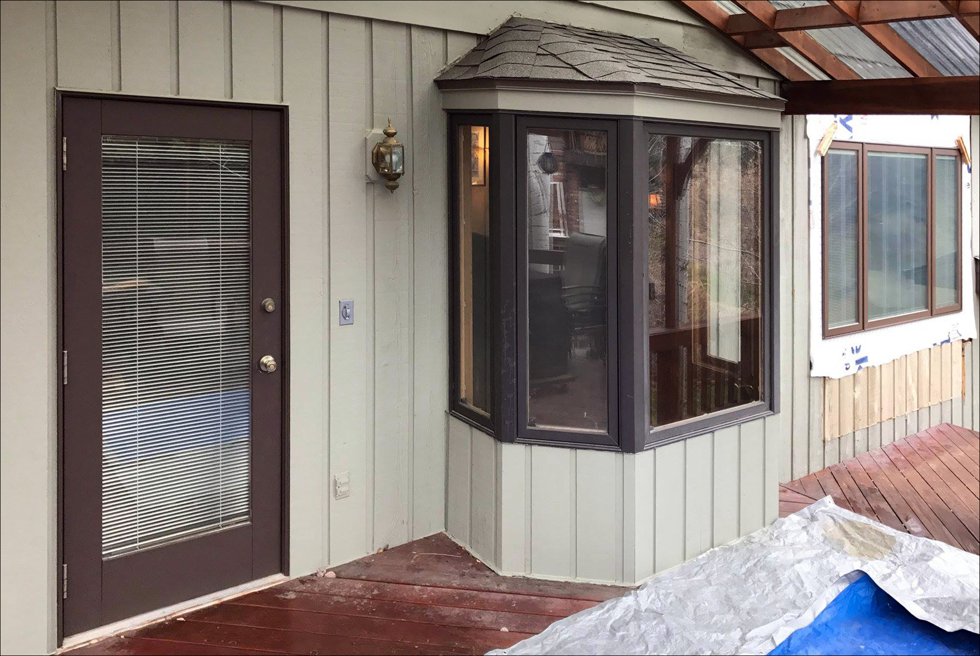 New Back Door New Back Deck Outset Window Johnson