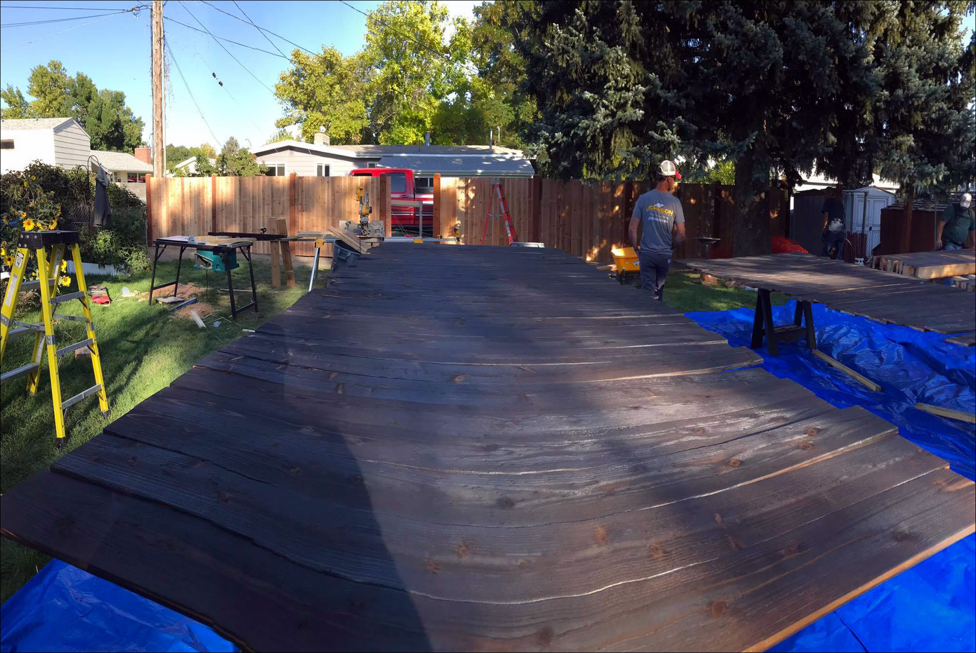 Staining Wood for Custom Home Wood Work Johnson Construction