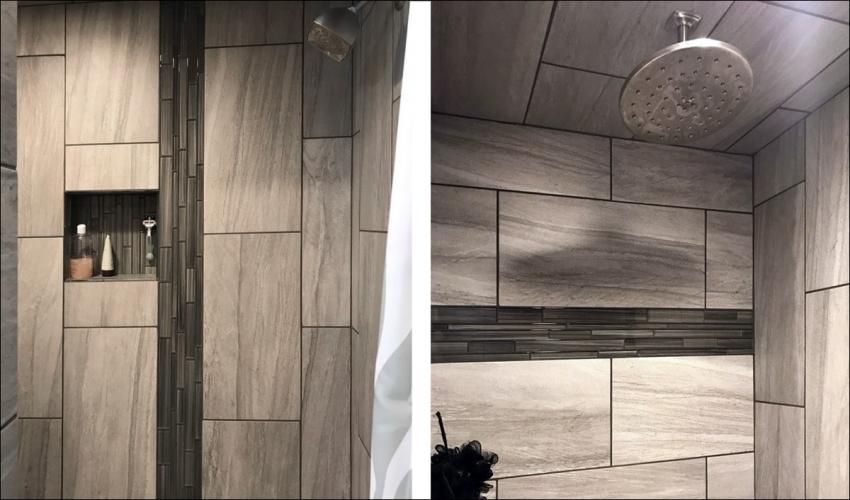 services-Slideshow-Johnson-Construction-Billings-Bathroom-Remodel-Black-Door-Shower-Tile-Gray